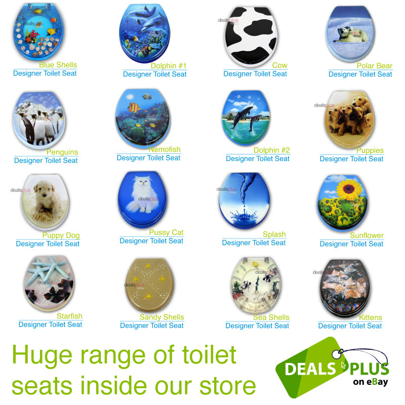 Polar Bear Designer Toilet Seat And Cover Poly Resin