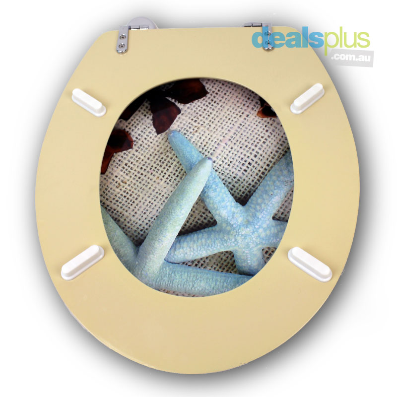 Starfish Designer Toilet Seat And Cover Poly Resin Finish